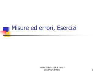 Misure ed errori, Esercizi