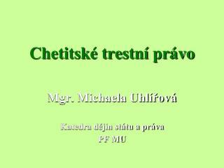 Chetitské trestní právo
