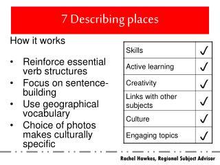 7 Describing places