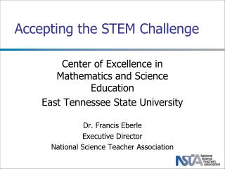 Accepting the STEM Challenge