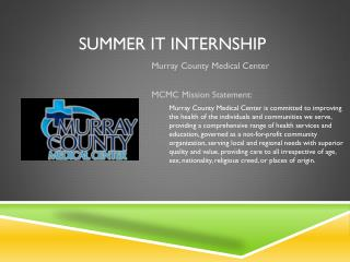 Summer IT Internship