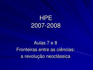 HPE 2007-2008