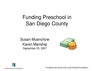 Funding Preschool in  San Diego County