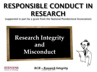 Research Integrity and Misconduct