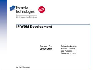 IP/WDM Development