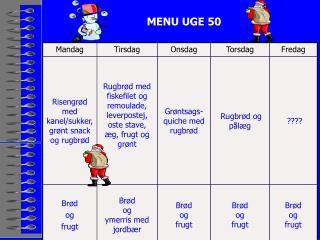 MENU UGE 50