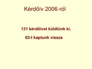 K�rd?�v 2006-r�l