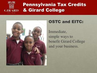 Pennsylvania Tax Credits  & Girard College