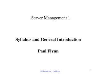 Server Management 1