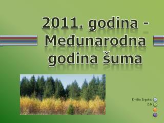 2011. godina - Međunarodna godina šuma