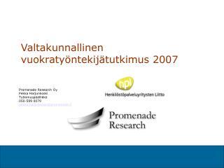Valtakunnallinen vuokratyöntekijätutkimus 2007