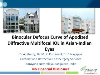 Binocular Defocus Curve of Apodized Diffractive Multifocal IOL in Asian-Indian Eyes