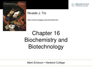 Chapter 16 Biochemistry and Biotechnology