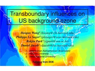 Transboundary influences on US background ozone