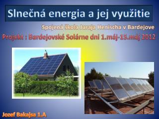 Slnečná energia a jej využitie