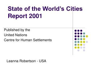 State of the World's Cities Report 2001