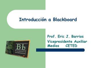 Introducción a Blackboard