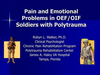 Pain and Emotional Problems in OEF
