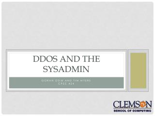 DDOS AND THE SYSADMIN