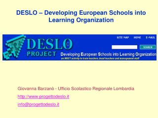 DESLO – Developing European Schools into Learning Organization