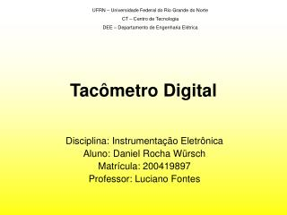 Tac�metro Digital