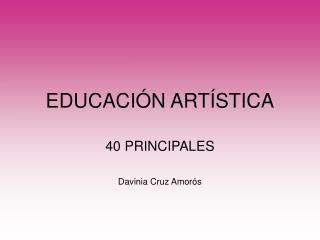 EDUCACI�N ART�STICA