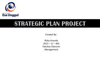 StrategiC pLAN  project