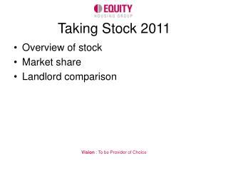 Taking Stock 2011