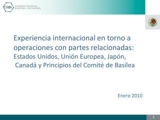 Experiencia internacional en torno a  operaciones con partes relacionadas: