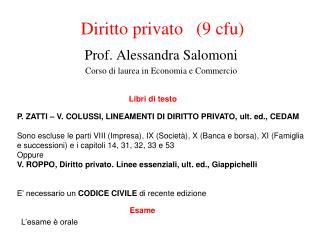 Diritto privato   (9 cfu)
