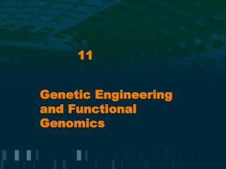 Genetic Engineering and Functional Genomics
