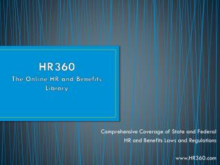 HR360 The Online HR and Benefits Library