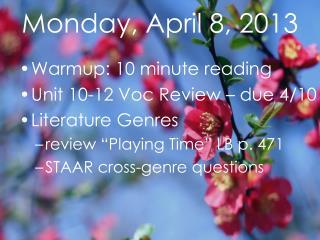 Monday, April 8, 2013