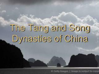 The Tang and Song Dynasties of China