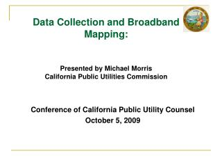 Conference of California Public Utility Counsel October 5, 2009
