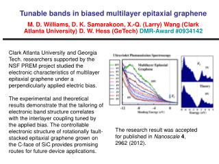 The research result was accepted for published in  Nanoscale 4 , 2962 (2012).