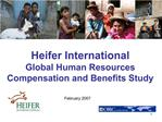 Heifer International Global Human Resources Compensation and Benefits Study