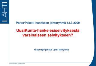 kaupunginjohtaja Jyrki Myllyvirta