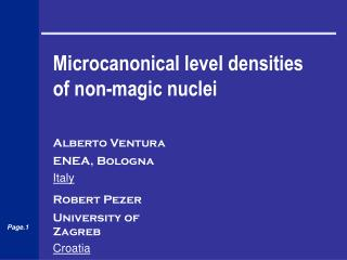 Microcanonical level densities of non-magic nuclei