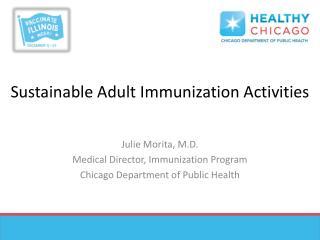 Sustainable Adult Immunization Activities