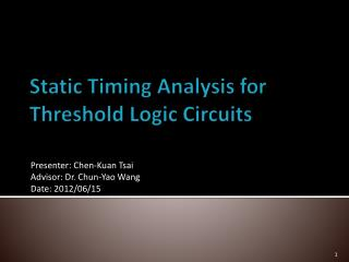 Static Timing Analysis for Threshold Logic Circuits