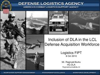 Inclusion of DLA in the LCL Defense Acquisition Workforce