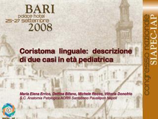 Maria Elena Errico, Delfina Bifano, Michele Rocco, Vittoria Donofrio