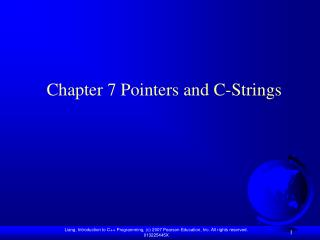 Chapter 7 Pointers and C-Strings