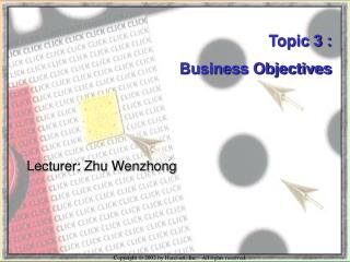 Lecturer: Zhu Wenzhong