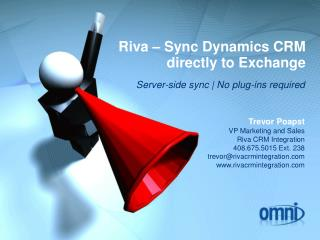 Riva – Sync Dynamics CRM directly to Exchange