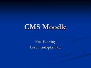 CMS Moodle