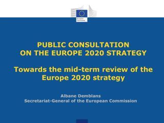 Albane Demblans Secretariat-General of the European Commission