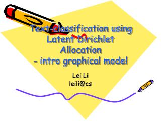 Text-classification using Latent Dirichlet Allocation - intro graphical model