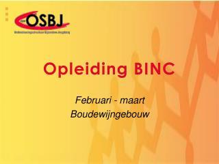 Opleiding BINC